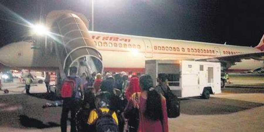भारतीय कामगार को वापस बुलाने के लिए 4 AIRINDIA भेजा गया, केवल -VE जाँच वालों को लाया जाएगा